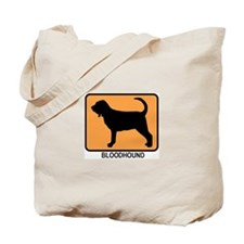 Bloodhound (simple-orange) Tote Bag