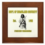 Dept. of Homeland Security Framed Tile