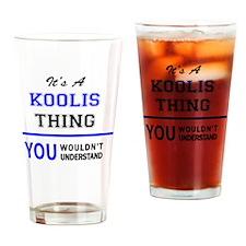 Unique Koolie Drinking Glass