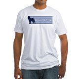 Norwegian Elkhound (retro-blu Shirt