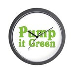 Pump it Green Wall Clock