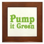 Pump it Green Framed Tile