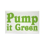 Pump it Green Rectangle Magnet (100 pack)