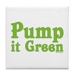 Pump it Green Tile Coaster