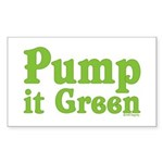 Pump it Green Rectangle Sticker