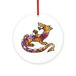Dragon Art Round Porcelain Pendant