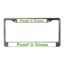 Pump it Green License Plate Frame