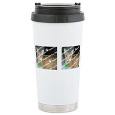 CUSTOMIZE Add 2 Photos Travel Coffee Mug