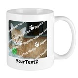 Custom photo and text Coffee Mugs