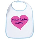 Personalized Custom Baby Bib Email Name B4 order