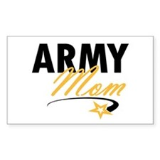 Army Mom Star Rectangle Decal