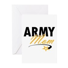 Army Mom Star Greeting Cards (Pk of 10)