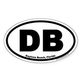 Daytona Beach, Florida DB Oval Decal