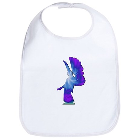 Blue Rainbow Angel Bib