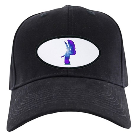 Blue Rainbow Angel Black Cap