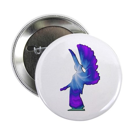 Blue Rainbow Angel 2.25&quot; Button (10 pack)