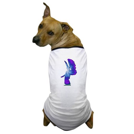 Blue Rainbow Angel Dog T-Shirt