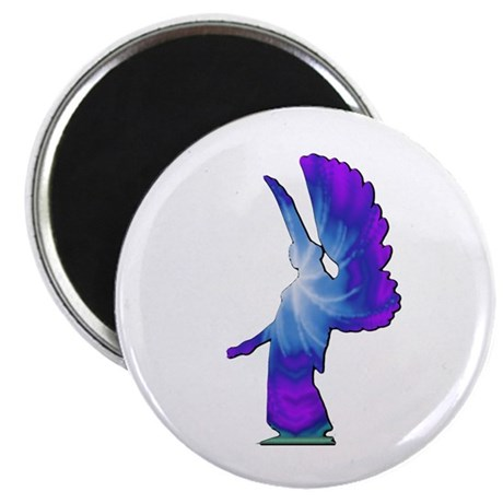 Blue Rainbow Angel 2.25&quot; Magnet (100 pack)