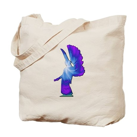 Blue Rainbow Angel Tote Bag
