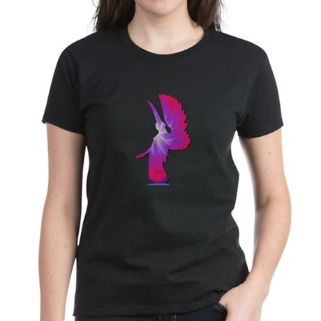 Pink Rainbow Angel Women's Dark T-Shirt