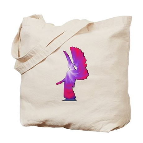 Pink Rainbow Angel Tote Bag