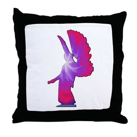 Pink Rainbow Angel Throw Pillow