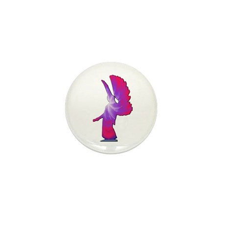 Pink Rainbow Angel Mini Button (100 pack)