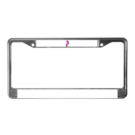 Pink Rainbow Angel License Plate Frame