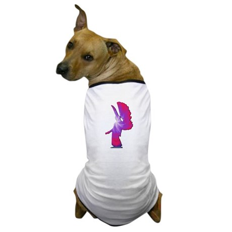 Pink Rainbow Angel Dog T-Shirt