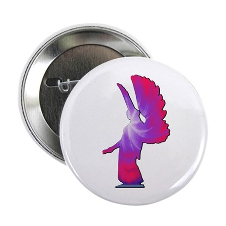 Pink Rainbow Angel Button