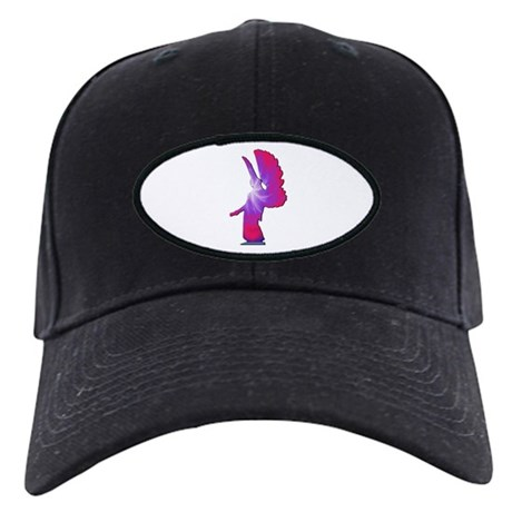 Pink Rainbow Angel Black Cap