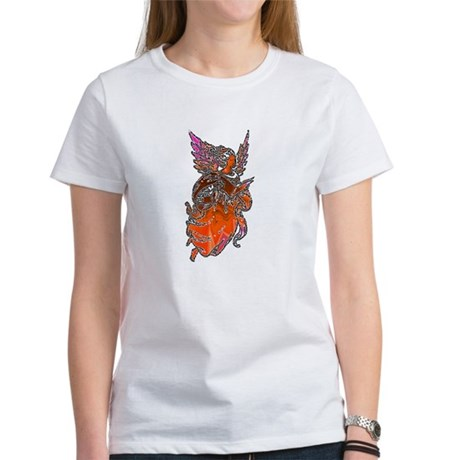 Pretty Orange Angel Women's T-Shirt