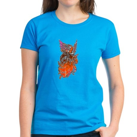 Pretty Orange Angel Women's Dark T-Shirt