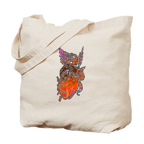 Pretty Orange Angel Tote Bag