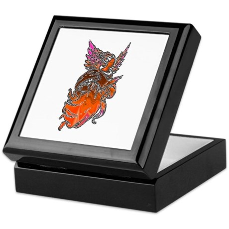 Pretty Orange Angel Keepsake Box