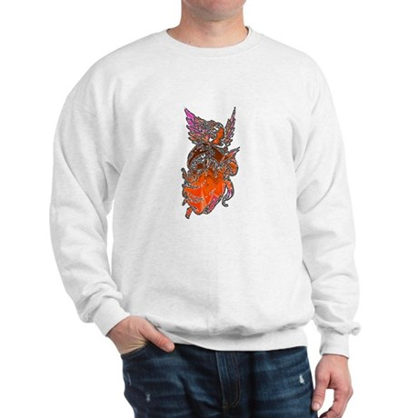 Pretty Orange Angel Sweatshirt