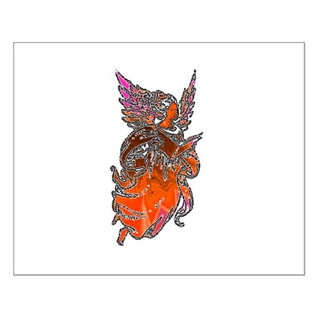 Pretty Orange Angel Small Poster