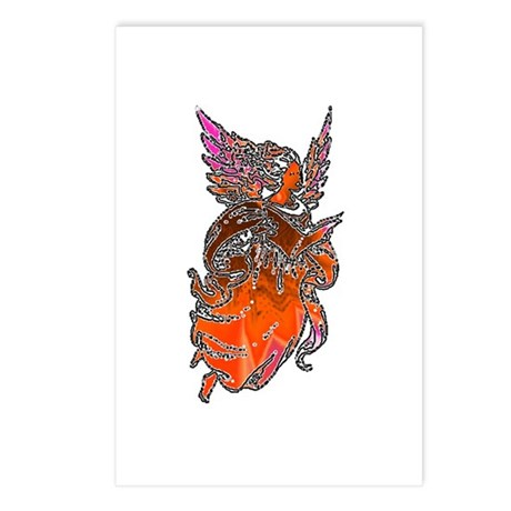 Pretty Orange Angel Postcards (Package of 8)