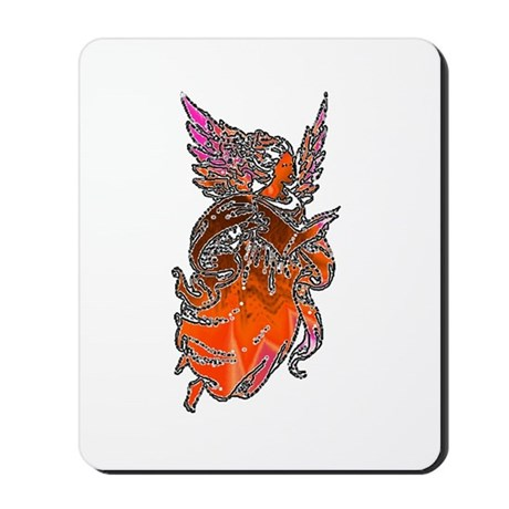 Pretty Orange Angel Mousepad