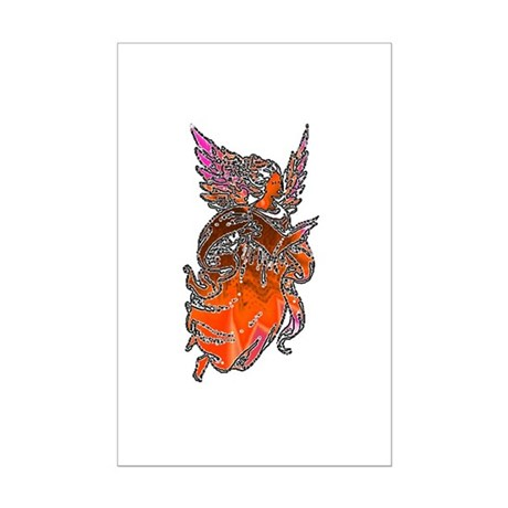 Pretty Orange Angel Mini Poster Print