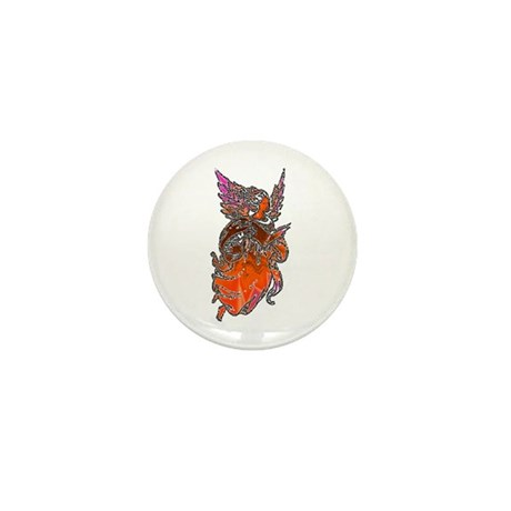 Pretty Orange Angel Mini Button (10 pack)