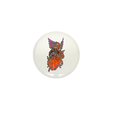 Pretty Orange Angel Mini Button