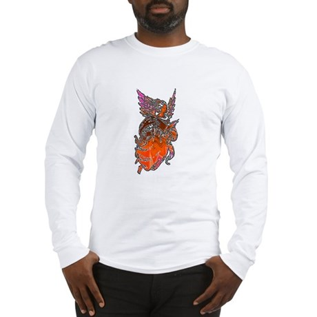 Pretty Orange Angel Long Sleeve T-Shirt