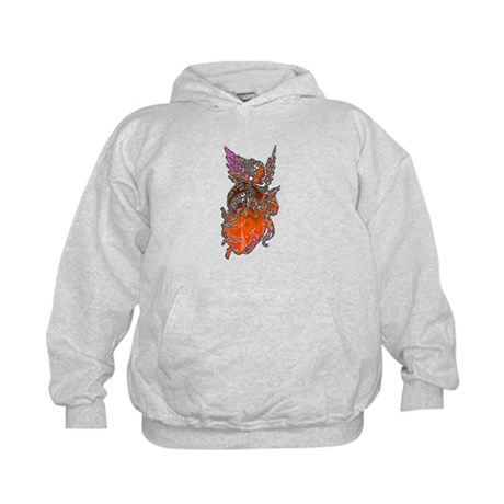 Pretty Orange Angel Kids Hoodie