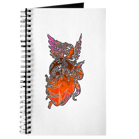 Pretty Orange Angel Journal