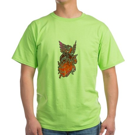Pretty Orange Angel Green T-Shirt
