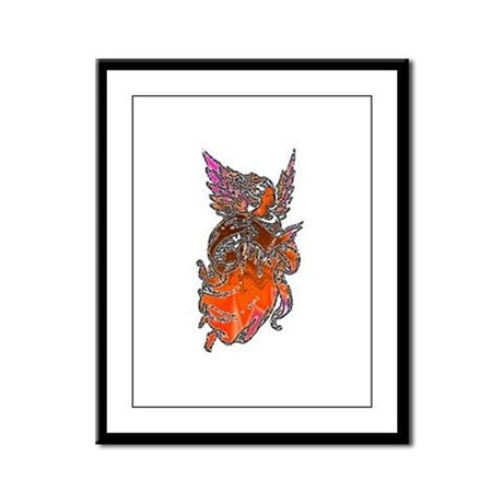 Pretty Orange Angel Framed Panel Print