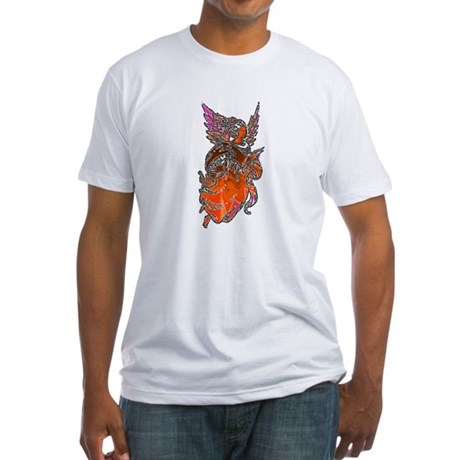 Pretty Orange Angel Fitted T-Shirt