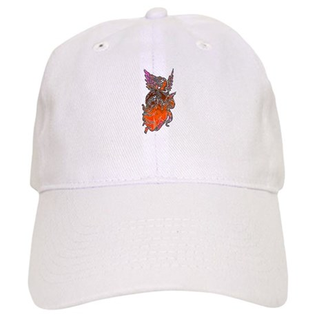 Pretty Orange Angel Cap