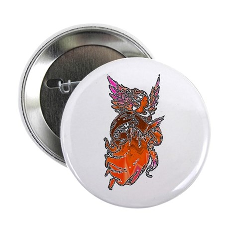 Pretty Orange Angel Button